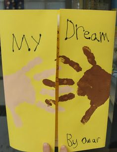 Handprint and Footprint Arts & Crafts: Martin Luther King Jr. Day Crafts & Pinterest Board
