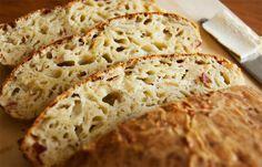 Вот это хлеб!!Всего за 5 шагов: аппетитный сырный хлеб без замеса