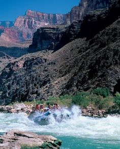 White water raft the Colorado River in the Grand Canyon