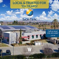 We're proud to provide for all your residential and commercial solar needs! At Sol-Tek, the solar division of Westech Systems, we don't just measure our employees by the decades of solar experience, but by generations.