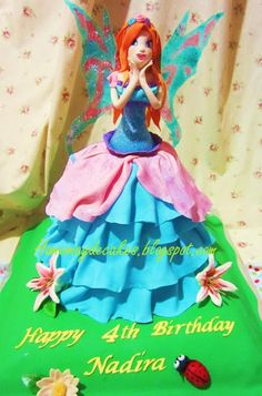 Home May'de Cakes: The Making : Bloom Winx Club Cake