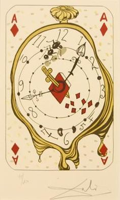 Salvador Dalí, Ace of Diamonds, from the Playing Card Suite, 1971.
