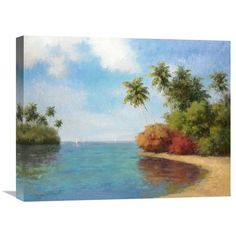 Global Gallery 'Coco De La Playa' by Dupre Original Painting on Wrapped Canvas Size: