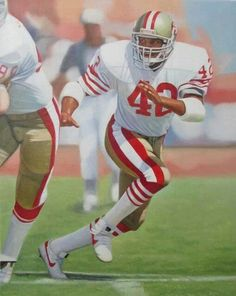 Ronnie Lott Ronnie Lott, was a ten-time Pro Bowl selection and a… 49ers Players, Football Players, Nfl 49ers, Nfl Football, Canadian Football, American Football, Football Defense, 49ers Cheerleaders, Ronnie Lott