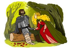 """Huevember - Day """"""""Must!"""" She put her hand on his good leg, just above the knee. """"A true man does what he will, not what he must."""" Her fingers brushed lightly against his thigh, the gentlest of promises. ( A Game of Thrones - Eddard XII ) """" Game Of Thrones Comic, Game Of Thrones Art, Tolkien Hobbit, The Hobbit, Game Of Thrones Direwolves, Writing Inspiration, Story Inspiration, Disney Images, Cersei"""