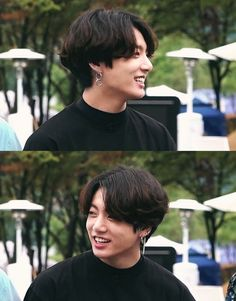 Jungkook with long hair is what we all needed♡