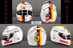 Vettel's 2015 helmet, and with the new rule, his only helmet design of 2015!