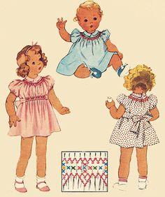 anni trenta di abito Cross Stitch e Smocking ricamo trasferimento McCalls 692 cartamodello Vintage taglia 6 mesi di sandritocat su Etsy https://www.etsy.com/it/listing/151361803/anni-trenta-di-abito-cross-stitch-e