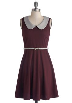 Work to Play Dress in Eggplant. When your day is filled with on-the-go excitement, rely on this ModCloth-exclusive purple dress to keep up with your busy schedule! #purple #modcloth