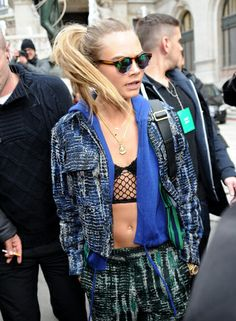 Cara Delevingne in the Naomi Net Crop Top (http://www.nastygal.com/sale/nasty-gal-naomi-net-crop-top) #nastygalsdoitbetter