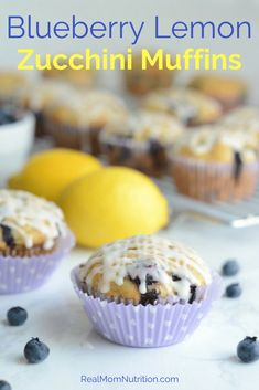 Packed with fresh blueberries and zucchini and drizzled with a lemony glaze. Serve these for breakfast, snack time, or dessert. Includes directions for baking into a loaf too! *i make these with gluten free flour- excellent. Healthy Toddler Breakfast, Make Ahead Breakfast, Breakfast Recipes, Snack Recipes, Dessert Recipes, Breakfast Ideas, Blueberry Zucchini Muffins, Lemon Muffins, Blue Berry Muffins