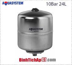 Bình tích áp Inox Aquasystem 10 bar- 24Lít