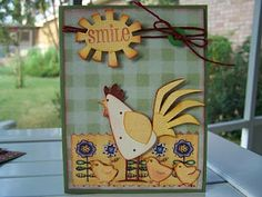 2 Roosters Cards with Cricut Cartridge Recipe