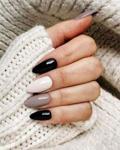 39 Trendy Fall Nails Art Designs Ideas To Look Autumnal and Charming - autumn nail art ideas fall nail art short nail art designs autumn nail colors dark nail designs coffin nails Fall Nail Art Designs, Black Nail Designs, Acrylic Nail Designs, Almond Nails Designs, Nail Color Designs, Best Nail Designs, Cute Acrylic Nails, Fun Nails, Matte Nails