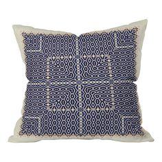 DENY Designs Ballack Art House Greece Indoor/Outdoor Throw Pillow