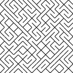 Labyrinth generated from diagonal tiles Vector Pattern, Pattern Art, Impossible Shapes, Information Visualization, Geometric 3d, Longest Word, Wax Carving, Article Writing, Stencil Art