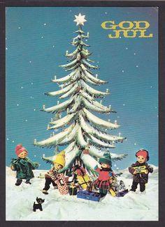 Valgt bilde Norwegian Christmas, Christmas Cards, Christmas Postcards, Troll, Norway, Auction, Manga, Movie Posters, Art