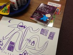Kindergarten Mapping with Harold and the Purple Crayon