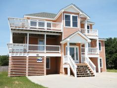 "Your search for the perfect vacation spot is over when you discover ""Timeless Treasure"". This lovely seaside home features wonderful views of the Atlantic Ocean and only 1075 feet to the beach access. The spacious living area on the top level offers a place for the entire family to enjoy morning breakfasts or quiet evening relaxation.  A private pool and basketball goal are more reasons to love this Corolla vacation home. Relax on the spacious decks, complete with built-in benche..."