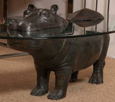 Oval Glass Top Hippo Coffee Table Design Furnitures Pinterest - Hippo coffee table