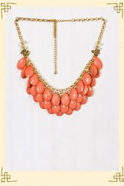 Waterfall Necklace in Coral - cheaper version of the j. crew style