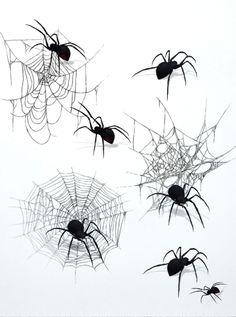 Halloween Drawings, Halloween Art, Halloween Tattoo, Spider Drawing, Spider Art, Tattoo Drawings, Art Drawings, Spider Web Tattoo, Spooky Tattoos