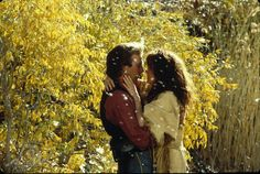"Kevin Costner and Mary McDonnell in ""Dances with Wolves"" (1990)"