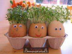 Пасхальный декор детям, украшение пасхальных яиц для детей