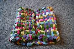 tapis récup loom rag rug