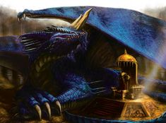 Blue Dragon, Dragon Age, Dungeons And Dragons, Legendary Dragons, Cool Dragons, Forgotten Realms, Wizards Of The Coast, 14th Century, Mythology