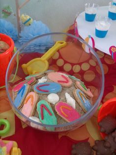 Third Grade end's of school...... | CatchMyParty.com-flip flop cookies-