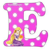 Rapunzel Disney, Tangled Rapunzel, Disney Princess, Moldes Para Baby Shower, Rapunzel Birthday Party, Alphabet Design, Kid Movies, Princesas Disney, Letters And Numbers