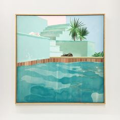 Found a piece of California in Paris. So glad I was able to catch the David Hockney show before it closed! | @cottonandflax