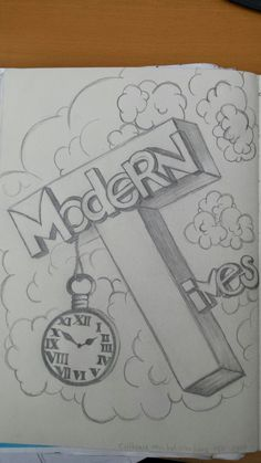 Modern Times - school drawing - Amber van Dinther