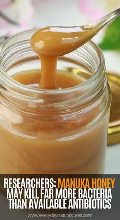 Researchers: Manuka Honey May Kill Far More Bacteria than Available Antibiotics - Health Remedies Natural Home Remedies, Natural Healing, Herbal Remedies, Health Remedies, Natural Oil, Cold Remedies, Natural Beauty, Holistic Remedies, Holistic Healing