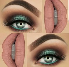 Green isnt used nearly enough in day to day make up. I love this color and it is great for brown eyes too!