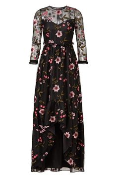 Shoshanna Floral Mesh Gown