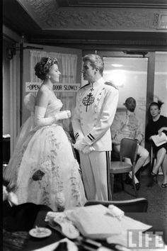 Arlene Dahl and Fernando Lamas at the 13th annual March of Dimes show....(Yale Joel. 1957)