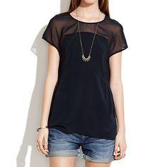 Silk Horizonline Blouse - shirts & tops - Women's NEW ARRIVALS - Madewell