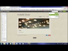 News Videos & more - How to Make a Website: GoDaddy Website Builder Overview/Tutorial - the best Web Design Videos Great Website Design, Simple Website, Web Design Tips, Best Web Design, Knowledge, Just For You, Coding, Teaching, Tutorials