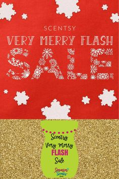 It's a  VERY MERRY FLASH SCENTSY SALE! - Save up to 80% ONLINE! That's right, select products have been marked down by up to 80% and we couldn't be more excited!  When we say Scentsy makes a great gift we aren't kidding.   Join our FREE VIP Group for more sales, promotions, samples and more, http://smarterscents.net/vip