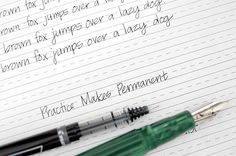 """5 Easy Ways to Improve Your Handwriting   More importantly, this idea: """"practice doesn't make perfect. Proactive makes permanent."""""""