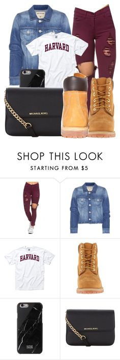 """""""Untitled #303"""" by mommyandme332 ❤ liked on Polyvore featuring True Religion, Timberland, Native Union, MICHAEL Michael Kors, women's clothing, women, female, woman, misses and juniors"""