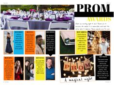 Prom is the highlight of the year so why not dedicate a yearbook page to the best dancer, best suit and other prom awards categories. Yearbook Pages, Highlight, Nice Dresses, Competition, Dancer, Awards, Suit, Prom