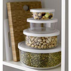 4-Piece Round Storage Bowl Set in Top Kitchen Storage | Crate and Barrel