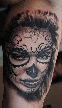 14 Best La muerte bella images in 2017 | Sugar skull tattoos