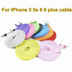 1M/2M/3M Multicolor 8pin USB Data Sync Charger Cable USB Data Sync Charger Cable Cord Wire for iPhone 5 5s 6 6Plus