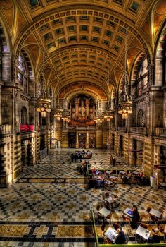 'The Big Hall' - | The Main Hall, Kelvingrove Art Gallery and Museum, Glasgow. I…                                                                                                                                                                                 More
