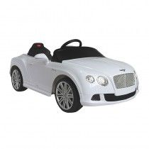 BENTLEY CONTINENTAL GT- LICENSED 6V ELECTRIC RIDE ON CAR - WHITE   We have now this amazing genuine Bentley GT Ride on Car with Full function parental remote control. This great looking Bentley GT is very close to real one and packed with superb gadgets such as Key Start Horn Sound and working front lights.