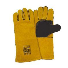 Deluxe Gold Leather Kevlar Welding Gauntlets    Deluxe Gold Leather Kevlar Welding Gauntlets